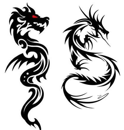 Драконы для тату 77