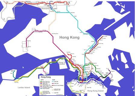 Карта метро Гонконга