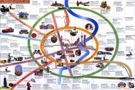 Туристическая карта Шанхая